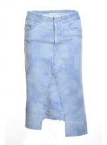 Aries HOLMES BLEACH DENIM SKIRT