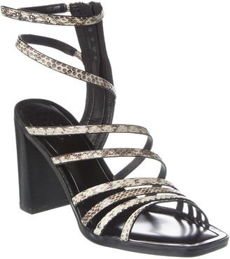 Franco Sarto Winnie Snake-Embossed Leather Sandal