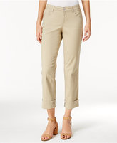 Style&Co. Style & Co. Cuffed French Birch Wash Jeans, Only at Macy's