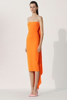 Alex Perry Hall-Strapless Crepe Midi Dress