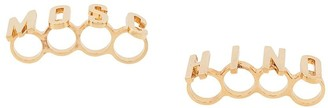 Moschino knuckle duster ring set