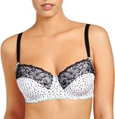 Evollove Bra: Lily Blush Lace Full-Figure Balconette Bra L23-1061
