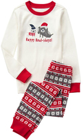 Gymboree White & Red 'Howl-idays' Pajama Set - Infant Toddler & Boys