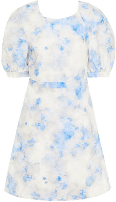 Baum und Pferdgarten Adalane Open-back Printed Cotton-poplin Mini Dress