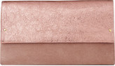 LK Bennett Madeline suede and metallic leather clutch bag