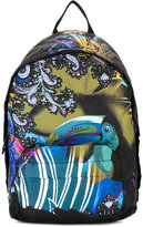 Etro printed backpack - men - Leather/Nylon - One Size