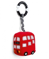 Mamas and Papas Plush Stroller Toy - Mini Red Bus