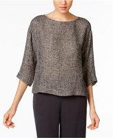 Eileen Fisher Organic Linen-Blend Boxy Top, Regular & Petite