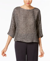 Eileen Fisher Organic Linen-Blend Boxy Top