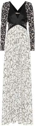 Roberto Cavalli Printed long-sleeved maxi dress