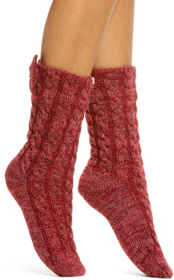 UGG Laila Bow Fleece Lined Socks