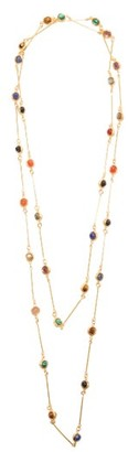 Sylvia Toledano Candies Onyx & Quartz Gold-plated Necklace - Gold Multi