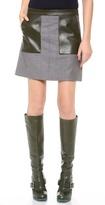 M. patmos Leather Trimmed Miniskirt