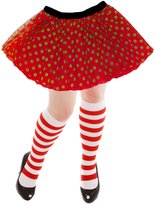TopSkirt Women's Athletic Running Tutu Skirt with Candycane Knee Socks
