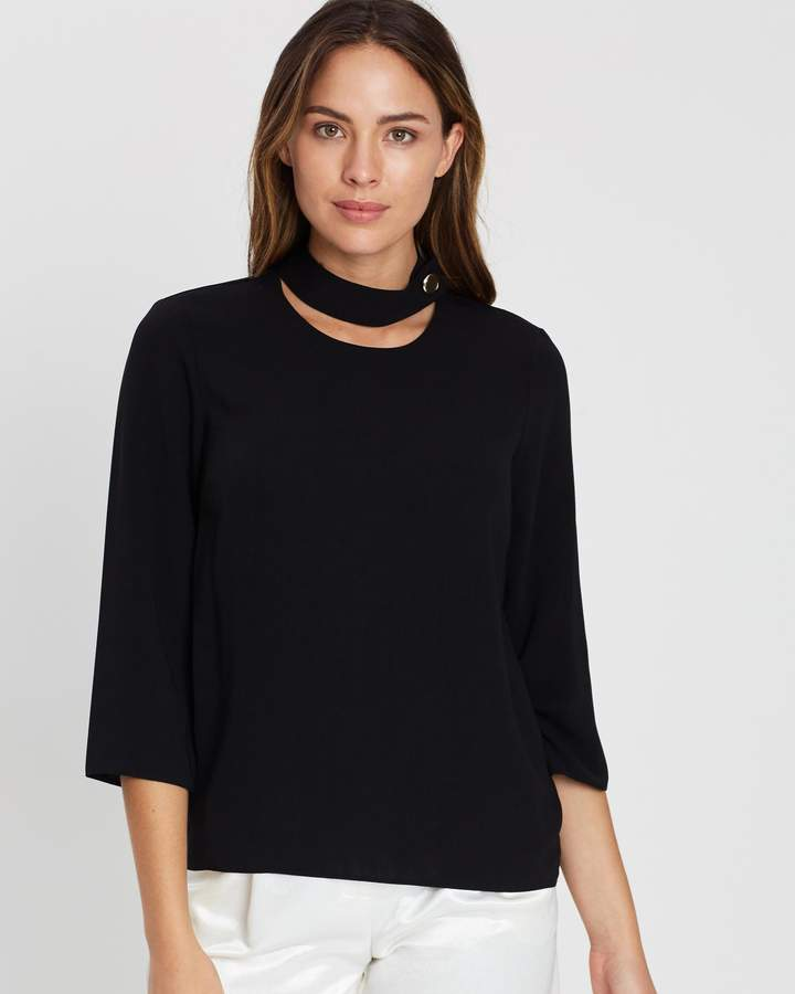 Dorothy Perkins 3/4 Sleeve Choker Top