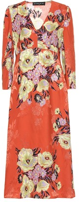 Etro Floral silk-blend jacquard dress