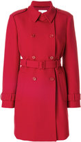 RED Valentino classic fitted coat - women - Cotton/Polyester/Spandex/Elastane/Wool - 40