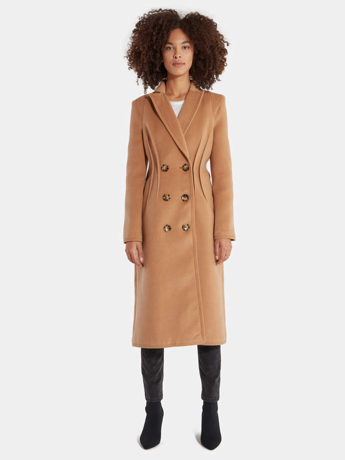 C/Meo Collective Low Key Double Breasted Long Coat