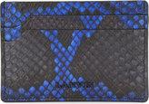 Lanvin Black Embossed Classic Bi-colour Python-embossed Leather Card Holder