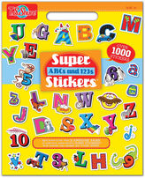 Asstd National Brand Super Abcs And 123s Stickers Activity Book
