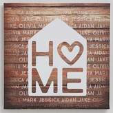 Home is Love 16-Inch x 16-Inch Canvas Print