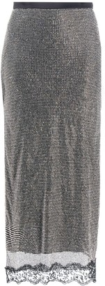 Christopher Kane Crystal Mesh Midi Skirt
