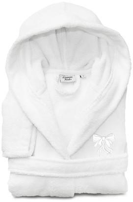 Linum Home Linum Kids 100% Turkish Cotton Hooded Terry Bathrobe, Bow Design, Larg