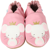 Robeez Pink Princess Mouse Leather Bootie
