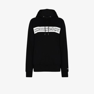 Sacai Einstein slogan-print hoodie