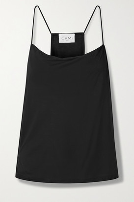 CAMI NYC The Aggie Draped Modal-jersey Camisole - Black