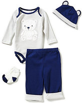 Starting Out Baby Boys Newborn-9 Months Bear Striped 4-Piece Layette Set