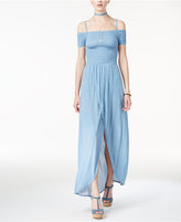 American Rag Juniors' Cold-Shoulder Maxi Dress, Created for Macy's
