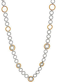 "Alor Cable Stainless Steel 36"" Circle LinkNecklace"