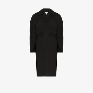 Bottega Veneta Trench Detail Shirt Dress