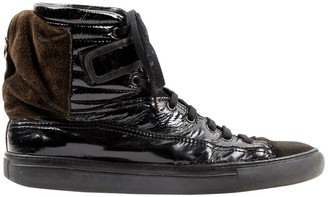 Raf Simons Black Patent leather Trainers