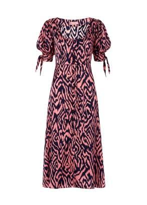 Kitri Lenora Animal Print Silk Dress