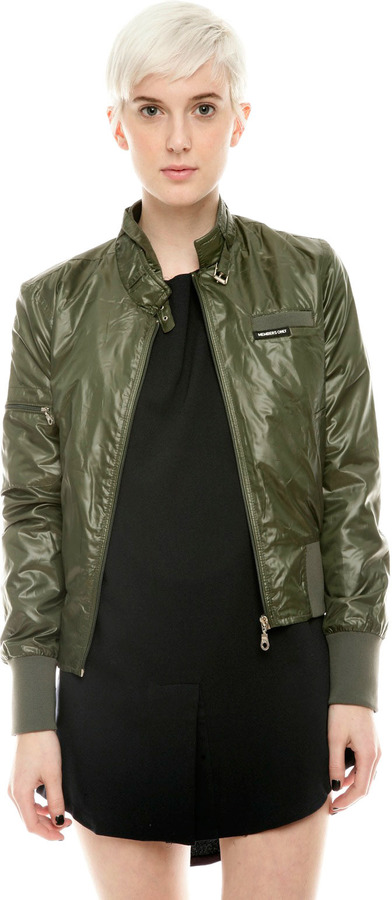 Members Only Nylon Bomber Jacket