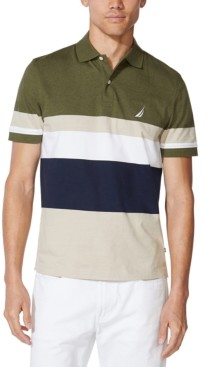 Nautica Men's Colorblocked Cotton Jersey Polo