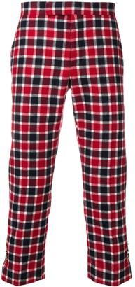 Thom Browne Small Box-check Slim-fit Trouser