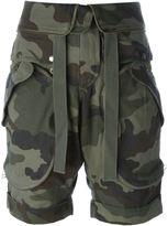 Faith Connexion camouflage print cargo shorts
