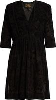 Vivienne Westwood Harima tribal-devoré crepe dress