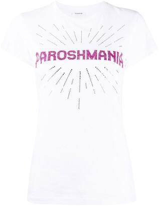 P.A.R.O.S.H. Comania slogan print T-shirt