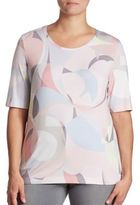 Basler, Plus Size Abstract-Print Jersey Tee