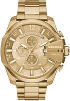 Diesel Men's Chronograph Mega Chief Gold-Tone Stainless Steel Bracelet Watch 59x51mm DZ4360