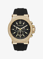 Michael Kors Dylan Pave Gold-Tone And Silicone Watch