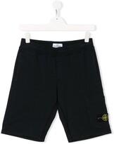 Stone Island Junior welt detail casual shorts