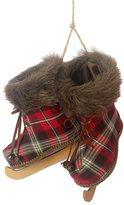 St. Nicholas Square® Faux-Fur Plaid Ice Skates Christmas Ornament