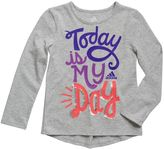 """adidas Girls 4-6x """"Today Is My Day"""" Tee"""