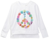Chaser Flower Child Long Sleeve Dolman Top (Big Girls)