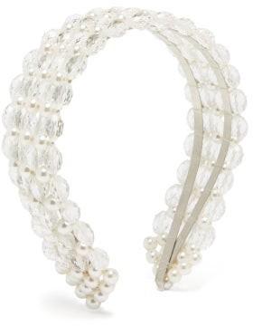 Shrimps Quinn Bead And Faux Pearl Headband - White